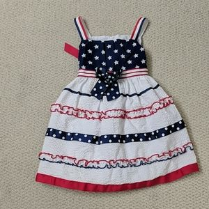 2T Bonnie Jean Stars and Stripes dress